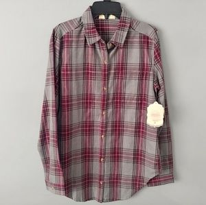 New Altar'd state plaid long-sleeve flannel shirt